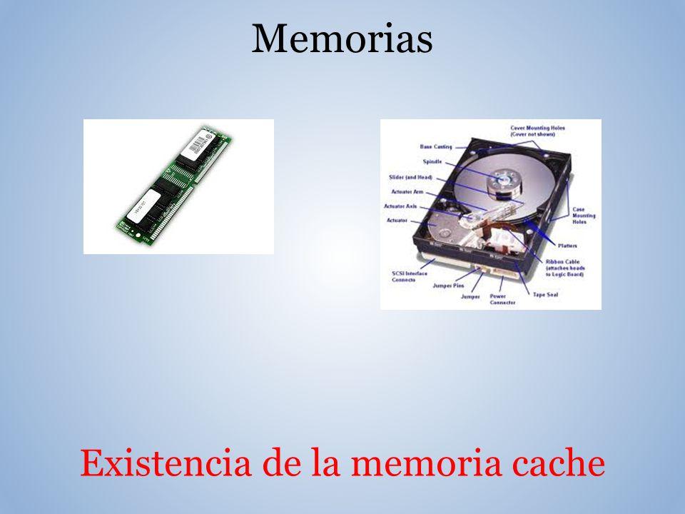 Existencia de la memoria cache