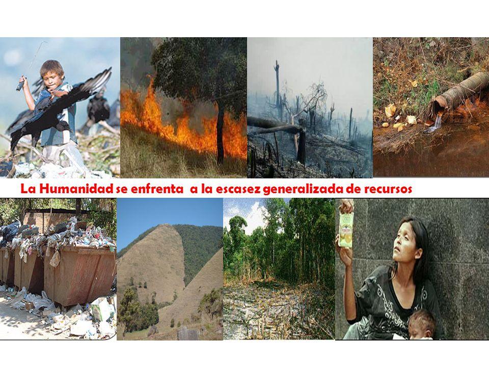 Trabajamos por un ambiente sano La Humanidad se enfrenta a la escasez generalizada de recursos