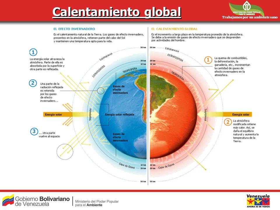 Trabajamos por un ambiente sano Calentamiento global