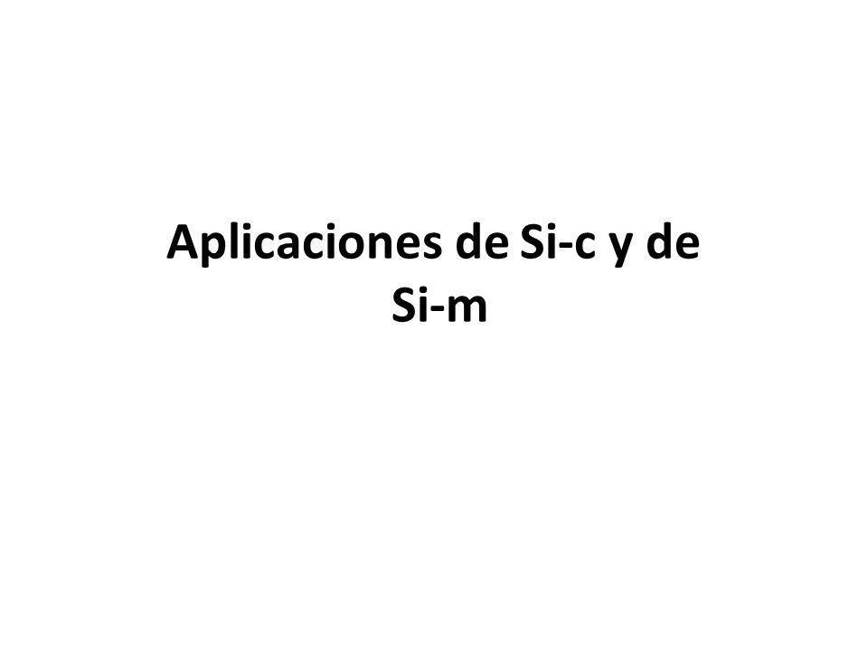 Aplicaciones de Si-c y de Si-m
