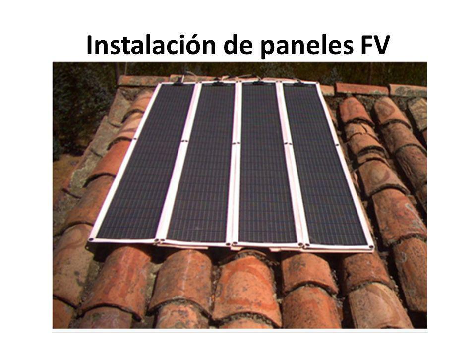 Instalación de paneles FV