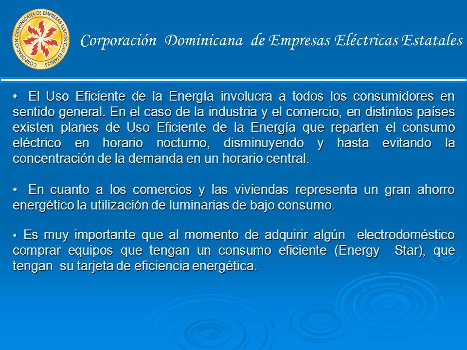 Corporación Dominicana de Empresas Eléctricas Estatales Recomendaciones para el Sector Comercio