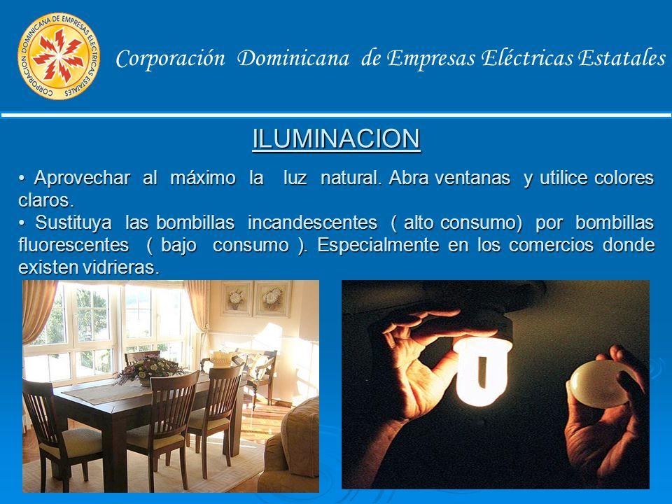 Corporación Dominicana de Empresas Eléctricas Estatales El Uso Eficiente de la Energía involucra a todos los consumidores en sentido general.