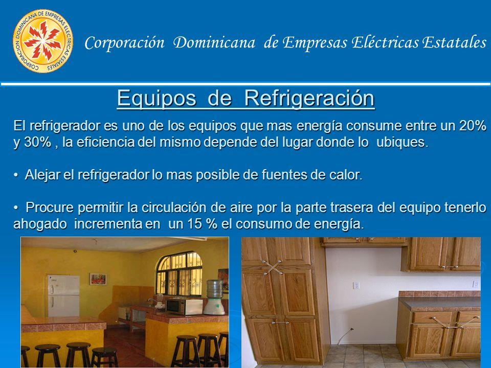 Corporación Dominicana de Empresas Eléctricas Estatales En los ambientes climatizados con aires acondicionados, asegure el control de la temperatura regulando el termostato a una temperatura de 23 a 24 grados Celsius, que es equivalente 74 a 75 grados Fahrenheit.