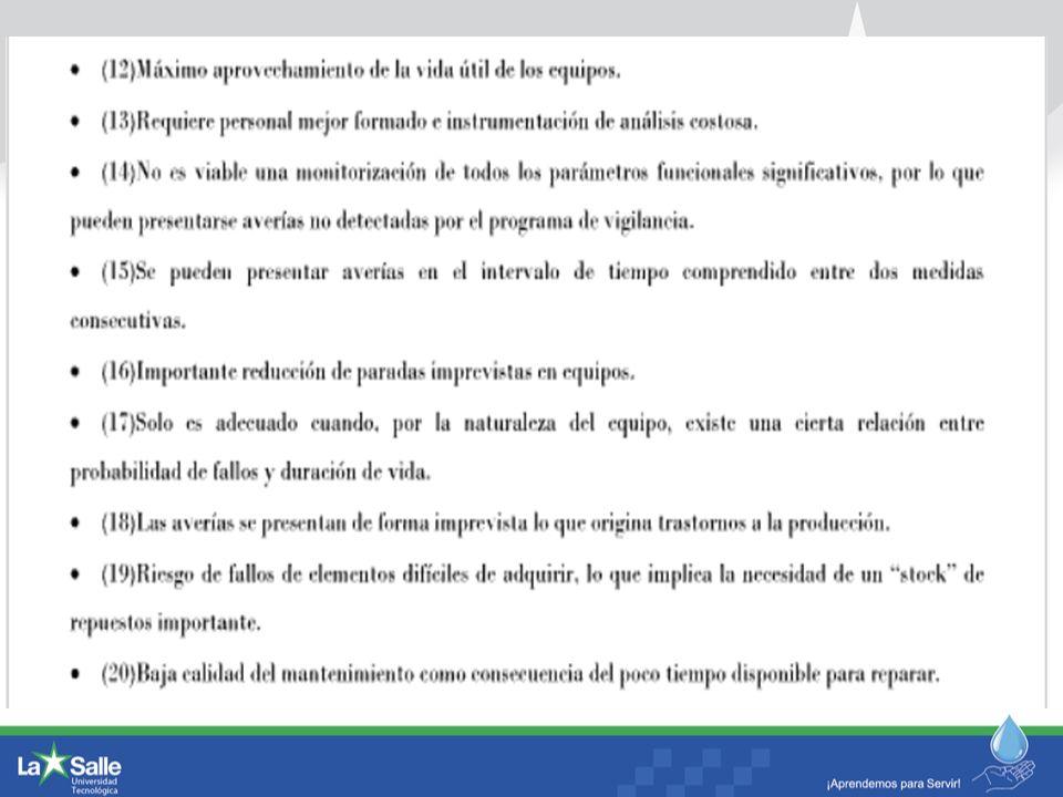 1.1 LAS 5 FUNCIONES DE MANTENIMIENTO (cont) 4.