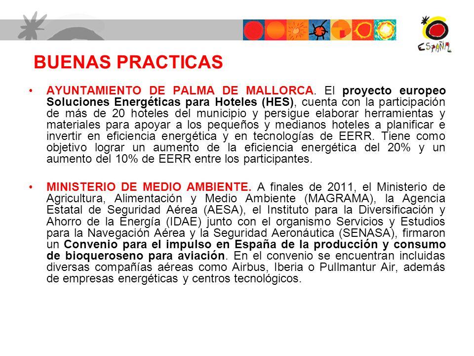 BUENAS PRACTICAS AYUNTAMIENTO DE PALMA DE MALLORCA. El proyecto europeo Soluciones Energéticas para Hoteles (HES), cuenta con la participación de más