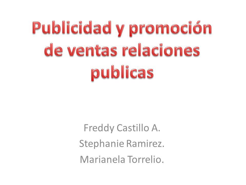 Freddy Castillo A. Stephanie Ramirez. Marianela Torrelio.