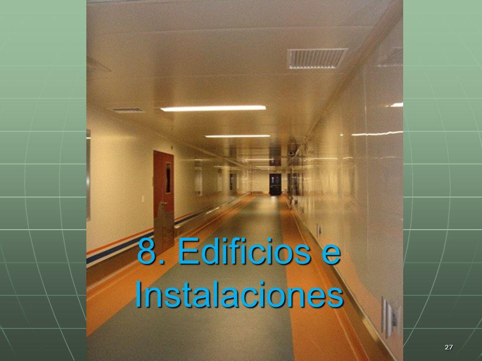 Marco Antonio Ramos Midence, Q.F. 27 8. Edificios e Instalaciones