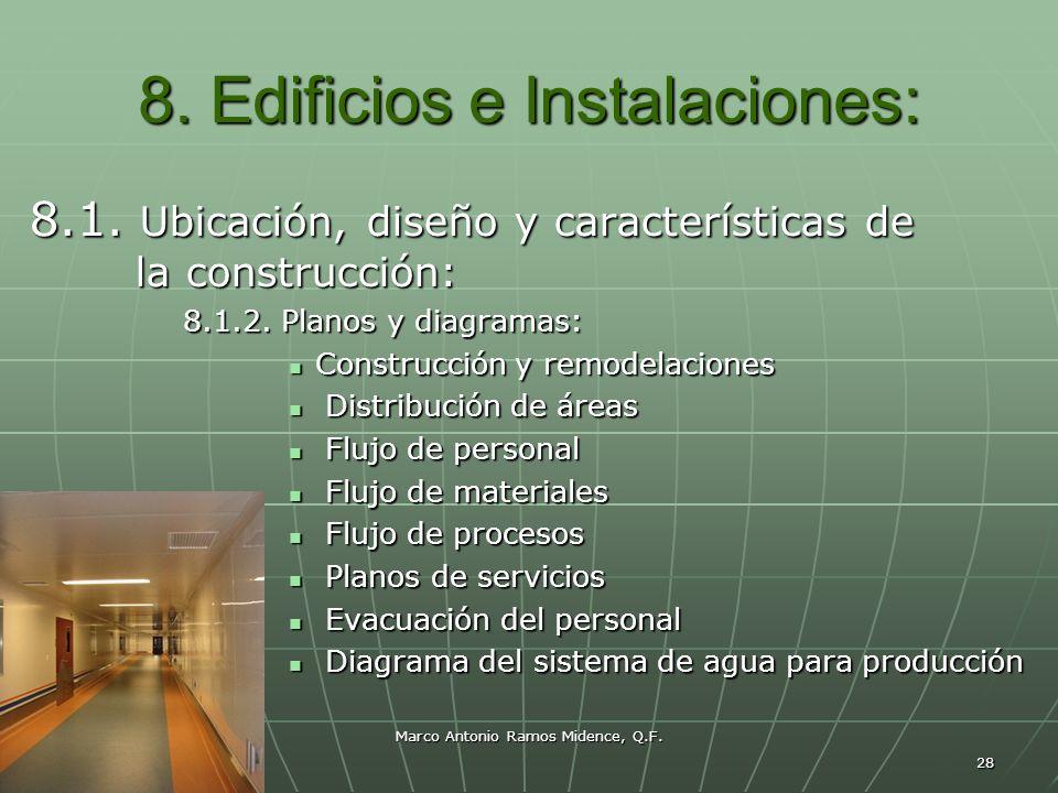 Marco Antonio Ramos Midence, Q.F. 28 8. Edificios e Instalaciones: 8.1. Ubicación, diseño y características de la construcción: 8.1.2. Planos y diagra