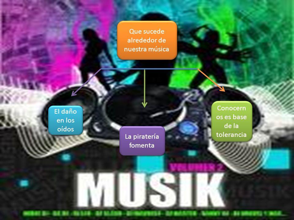 Que sucede alrededor de nuestra música El daño en los oídos La piratería fomenta Conocern os es base de la tolerancia