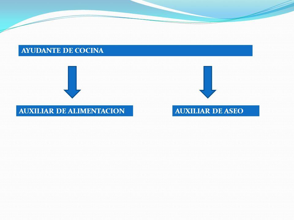 AYUDANTE DE COCINA AUXILIAR DE ALIMENTACIONAUXILIAR DE ASEO