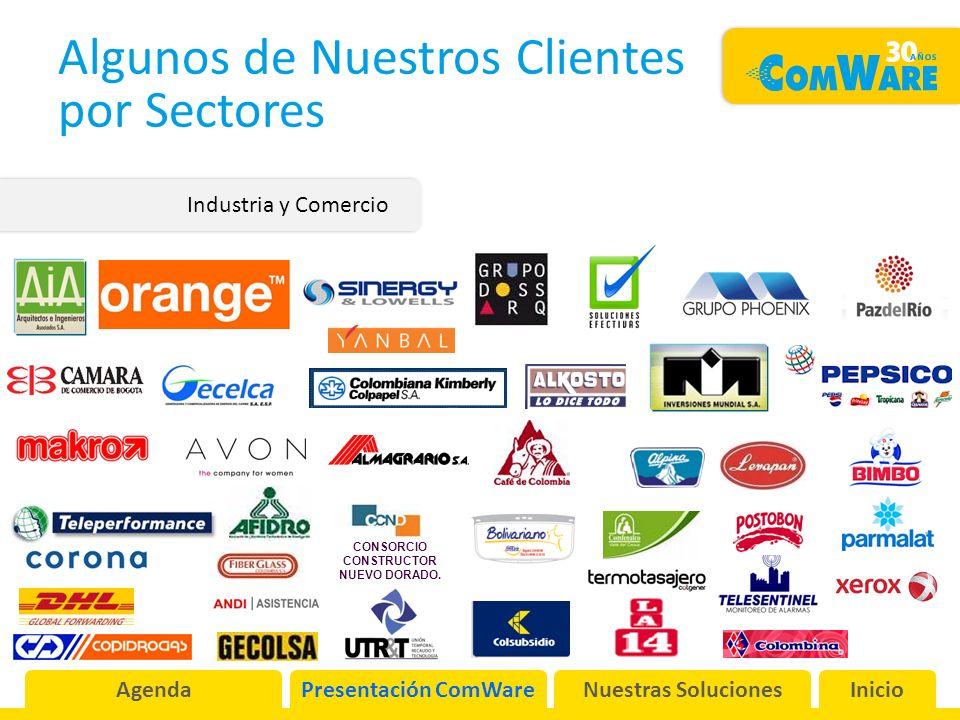 Algunos de Nuestros Clientes por Sectores Industria y Comercio CONSORCIO CONSTRUCTOR NUEVO DORADO.