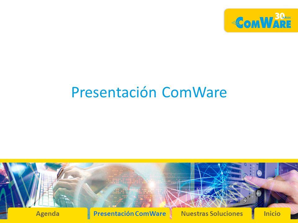 Presentación ComWare AgendaPresentación ComWareNuestras SolucionesInicio