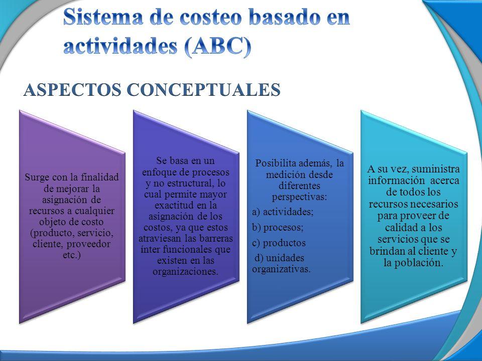 El modelo de costos debe aplicarse a la formación de la cadena de valor de la organización, distribuyendo los costos de la manera menos arbitraria posible.