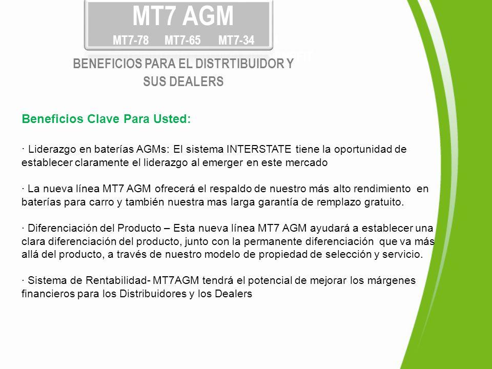 Beneficios Clave Para Usted: · Liderazgo en baterías AGMs: El sistema INTERSTATE tiene la oportunidad de establecer claramente el liderazgo al emerger
