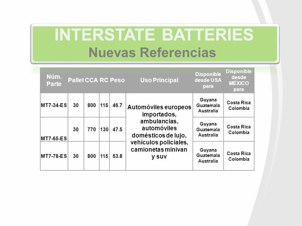 Núm. Parte PalletCCARCPesoUso Principal Disponible desde USA para Disponible desde MÉXICO para MT7-34-ES3080011546.7 Automóviles europeos importados,