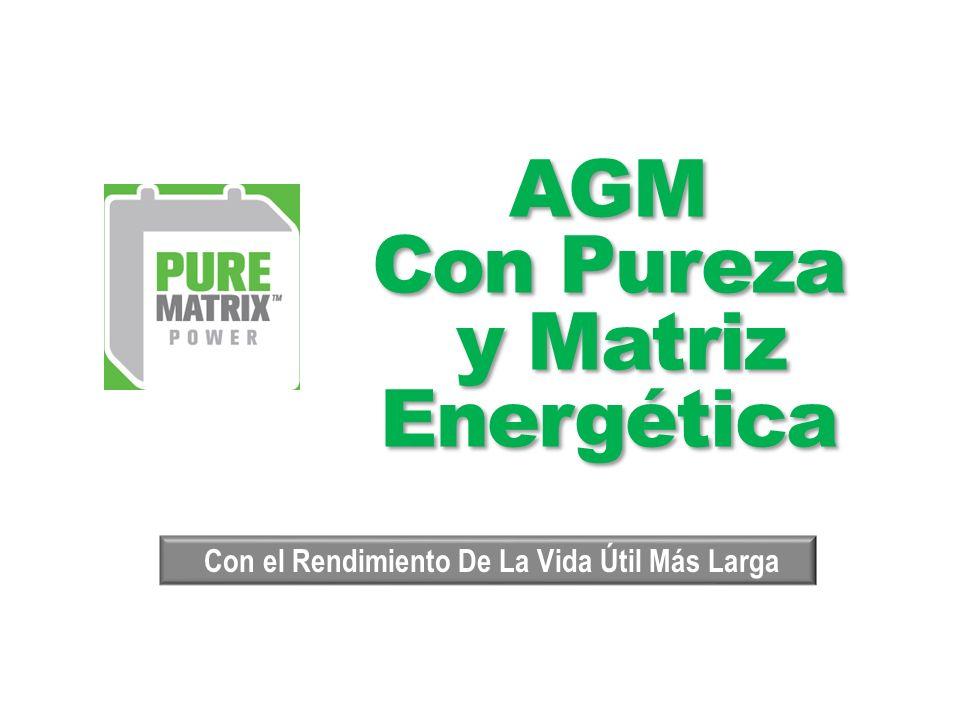 AGM Con Pureza y Matriz Energética AGM Con Pureza y Matriz Energética Con el Rendimiento De La Vida Útil Más Larga