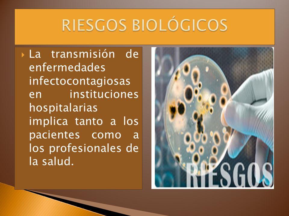 La transmisión de enfermedades infectocontagiosas en instituciones hospitalarias implica tanto a los pacientes como a los profesionales de la salud.