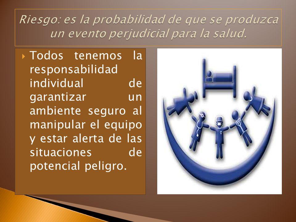 Todos tenemos la responsabilidad individual de garantizar un ambiente seguro al manipular el equipo y estar alerta de las situaciones de potencial pel