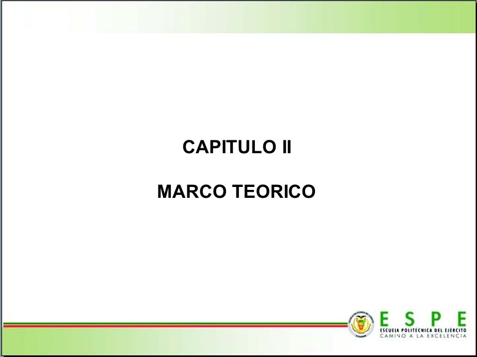 CAPITULO II MARCO TEORICO
