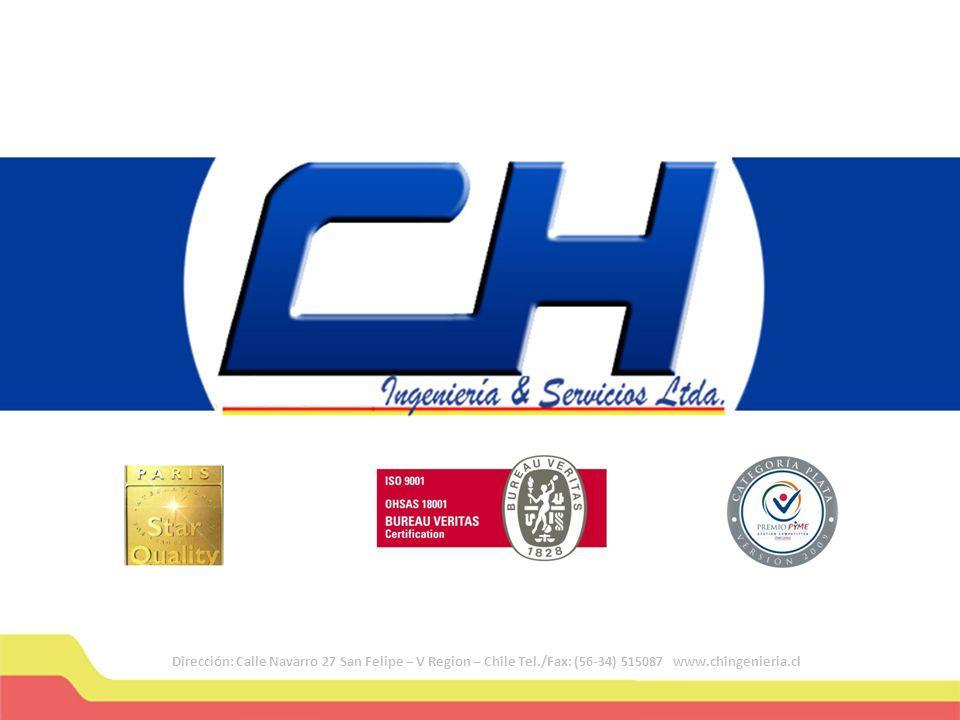 Dirección: Calle Navarro 27 San Felipe – V Region – Chile Tel./Fax: (56-34) 515087 www.chingenieria.cl