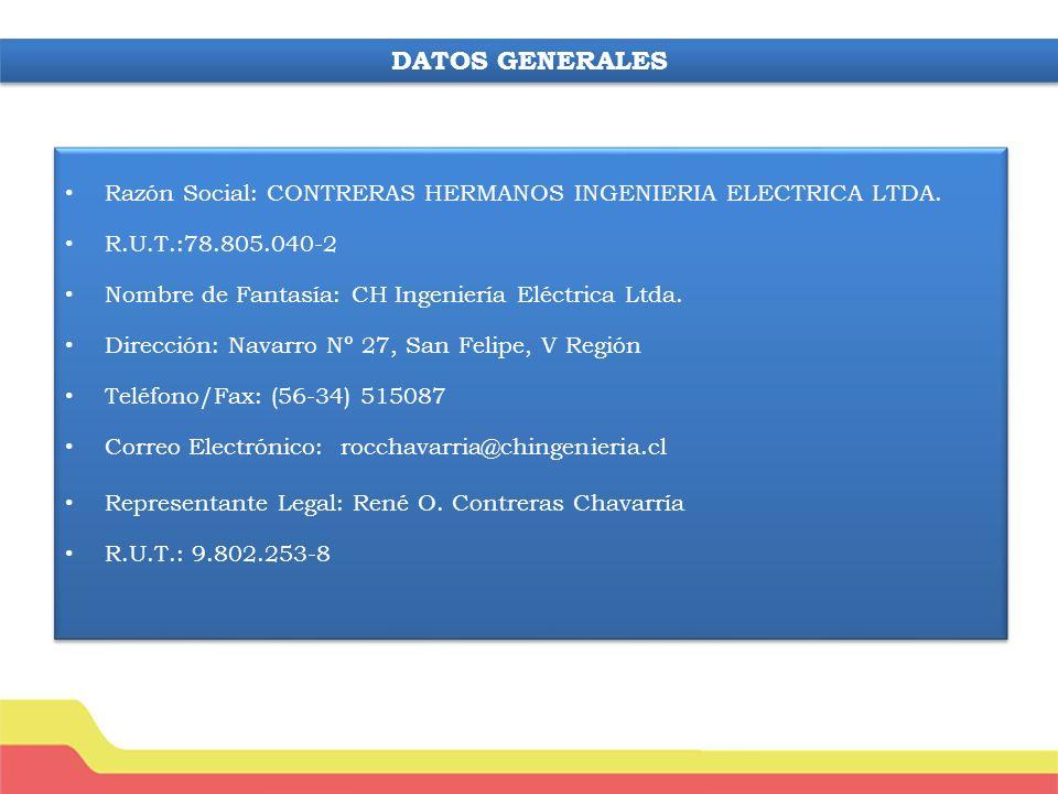 Razón Social: CONTRERAS HERMANOS INGENIERIA ELECTRICA LTDA.