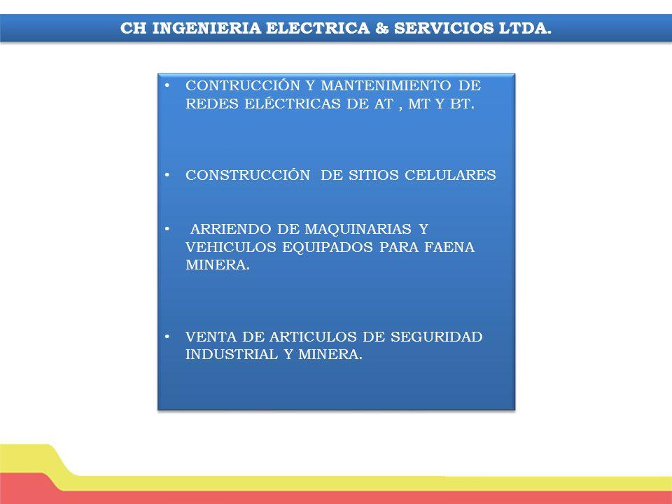 CONTRUCCIÓN Y MANTENIMIENTO DE REDES ELÉCTRICAS DE AT, MT Y BT.