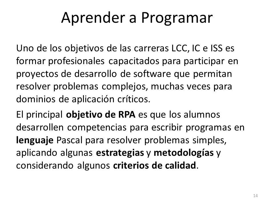 Uno de los objetivos de las carreras LCC, IC e ISS es formar profesionales capacitados para participar en proyectos de desarrollo de software que perm