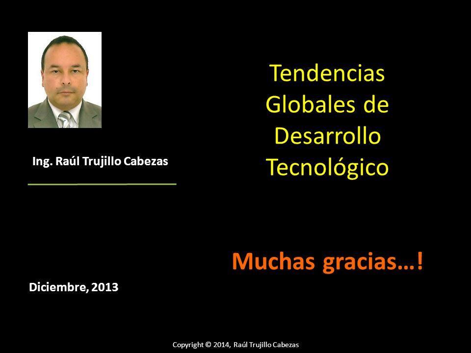 Tendencias Globales de Desarrollo Tecnológico Muchas gracias…! Diciembre, 2013 Ing. Raúl Trujillo Cabezas