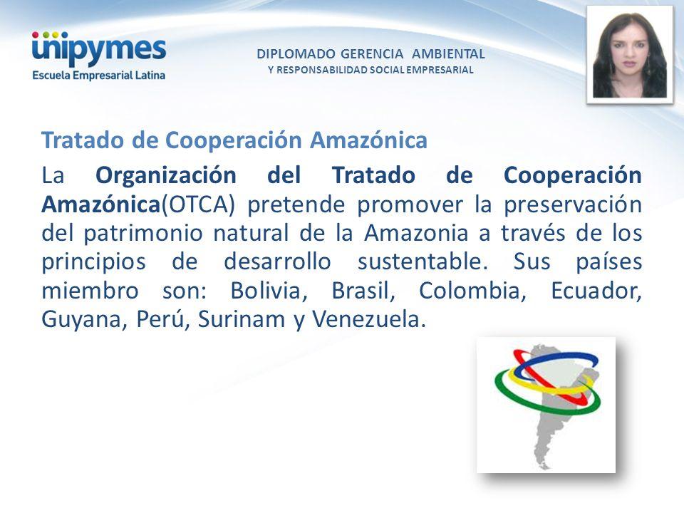 DIPLOMADO GERENCIA AMBIENTAL Y RESPONSABILIDAD SOCIAL EMPRESARIAL Conferencista foto Tratado de Cooperación Amazónica La Organización del Tratado de C