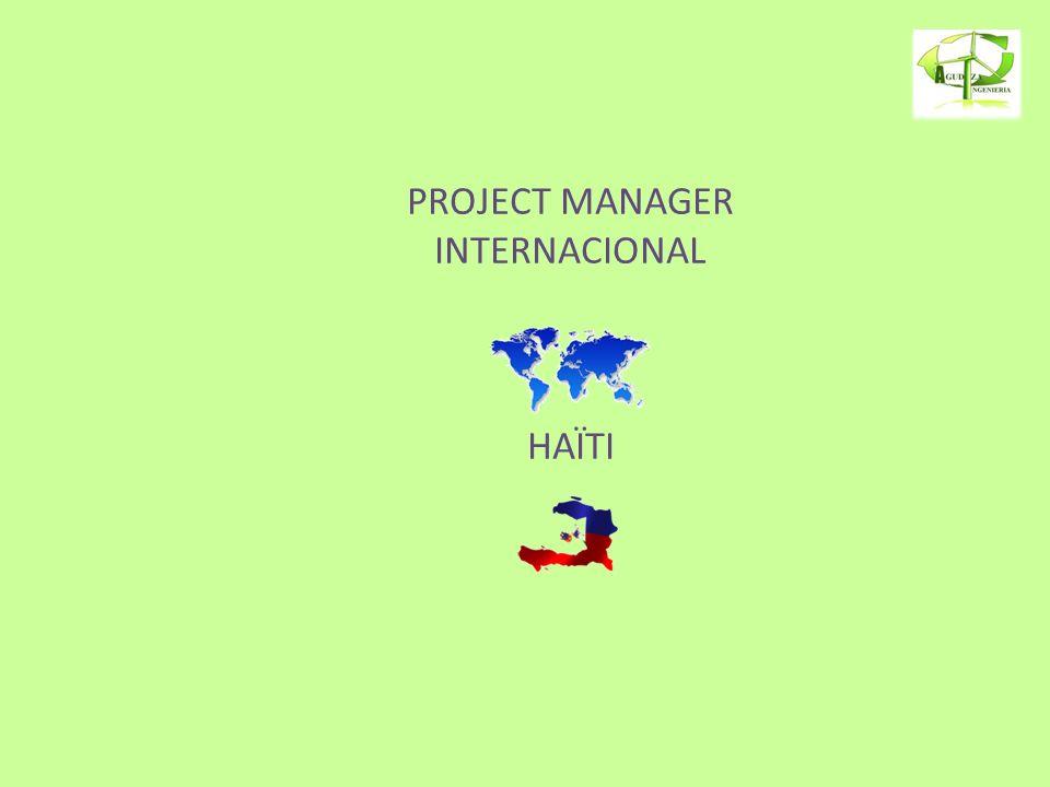 PROJECT MANAGER INTERNACIONAL HAÏTI