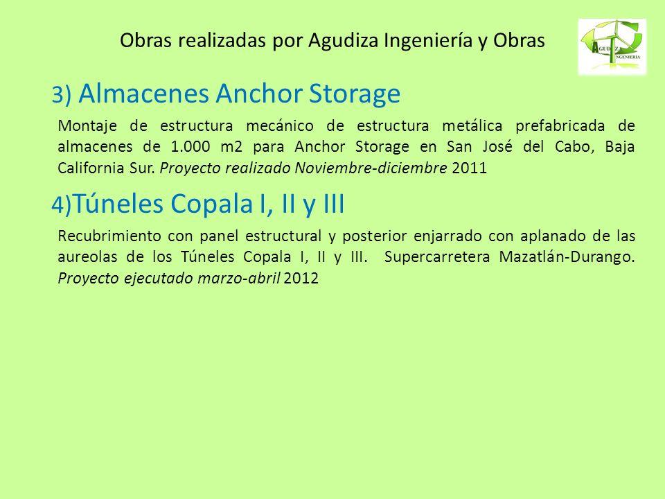 Obras realizadas por Agudiza Ingeniería y Obras 3) Almacenes Anchor Storage Montaje de estructura mecánico de estructura metálica prefabricada de alma