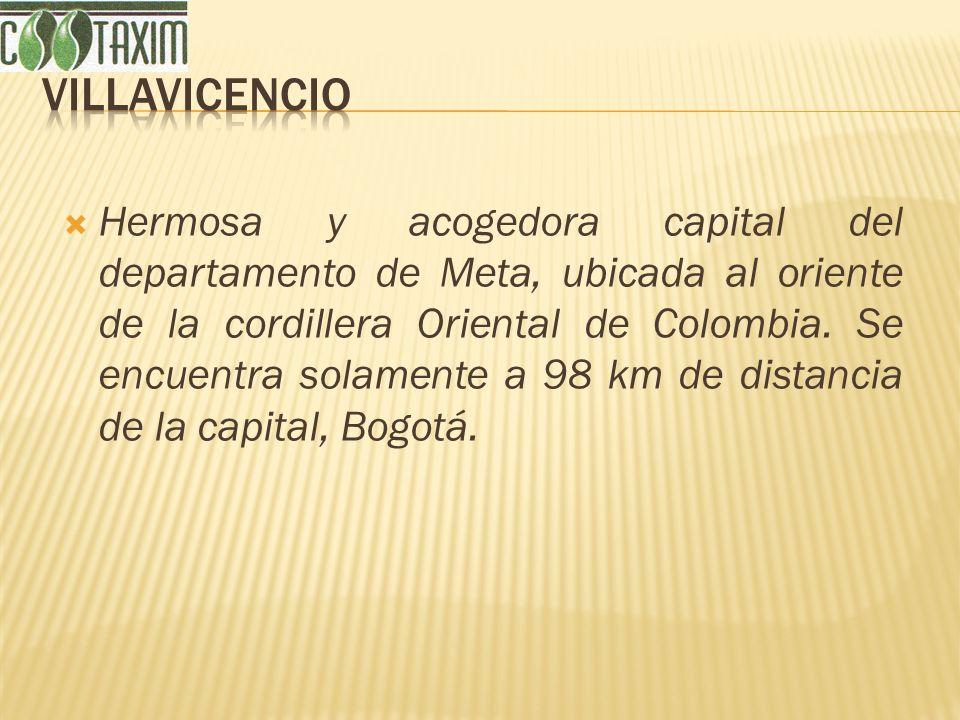 Hermosa y acogedora capital del departamento de Meta, ubicada al oriente de la cordillera Oriental de Colombia. Se encuentra solamente a 98 km de dist