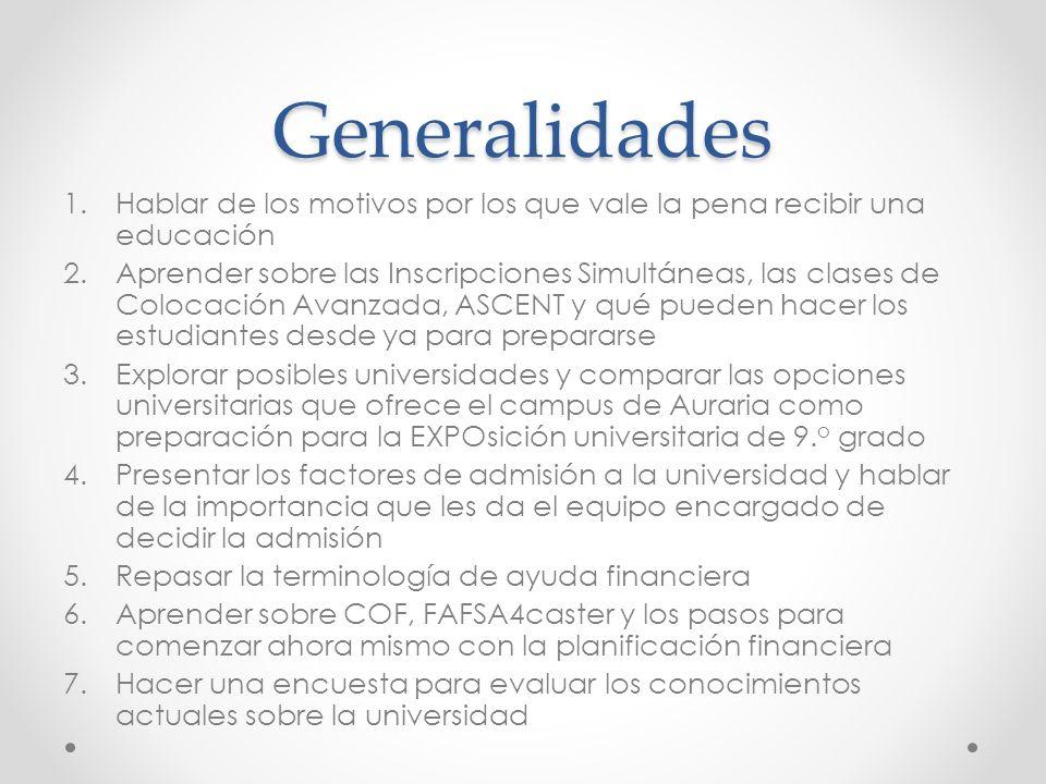 Opciones universitarias en la zona EXPOsición de 9.
