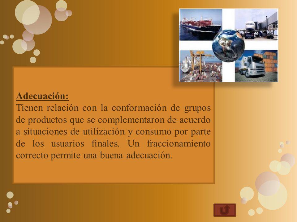 Adecuación: Tienen relación con la conformación de grupos de productos que se complementaron de acuerdo a situaciones de utilización y consumo por par