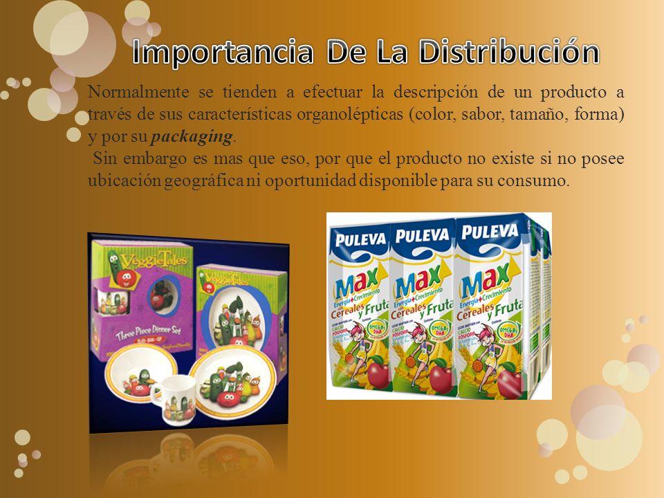 Normalmente se tienden a efectuar la descripción de un producto a través de sus características organolépticas (color, sabor, tamaño, forma) y por su packaging.