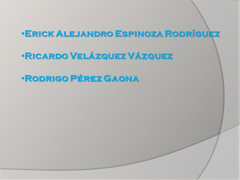 Erick Alejandro Espinoza Rodríguez Erick Alejandro Espinoza Rodríguez Ricardo Velázquez Vázquez Ricardo Velázquez Vázquez Rodrigo Pérez Gaona Rodrigo