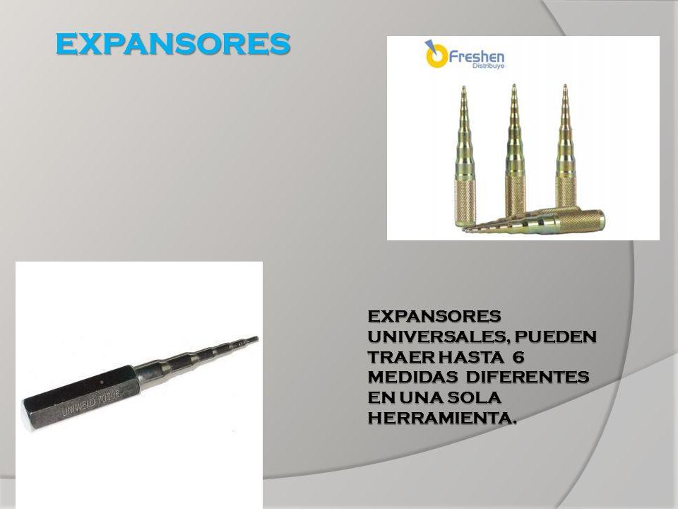 EXPANSORES EXPANSORES UNIVERSALES, PUEDEN TRAER HASTA 6 MEDIDAS DIFERENTES EN UNA SOLA HERRAMIENTA.