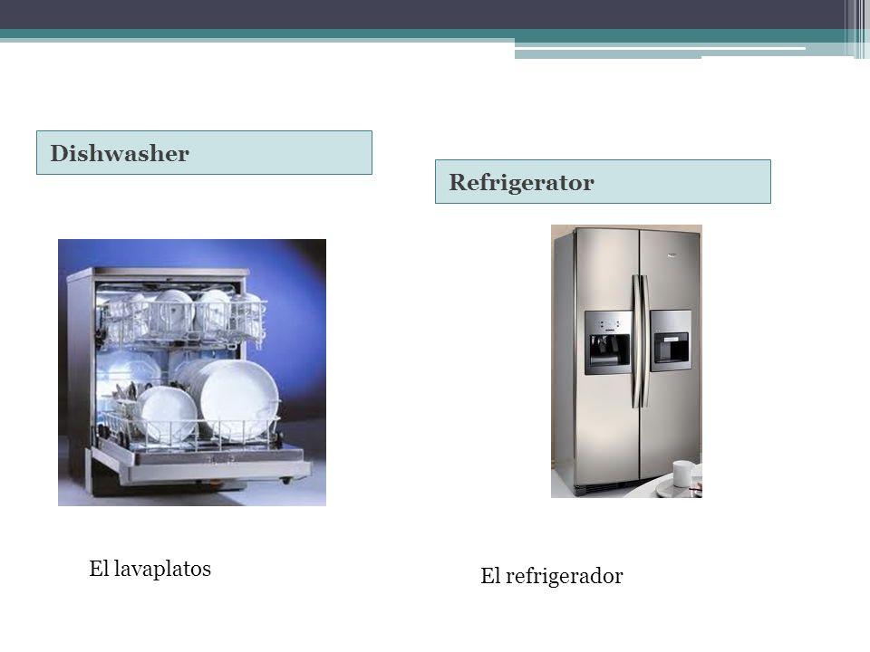 Dishwasher Refrigerator El lavaplatos El refrigerador