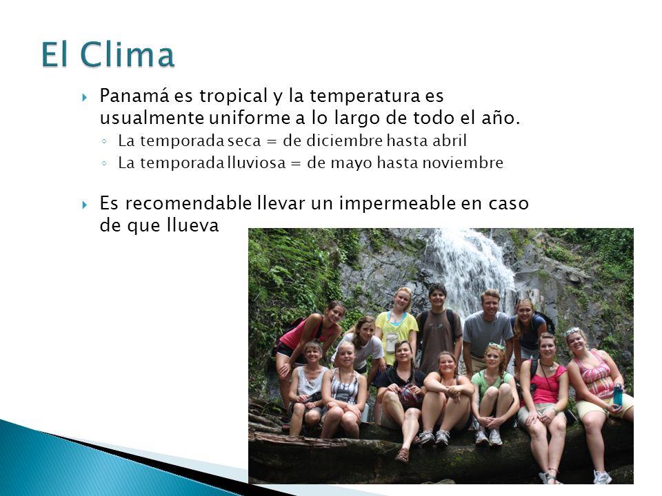 Panamá es tropical y la temperatura es usualmente uniforme a lo largo de todo el año.