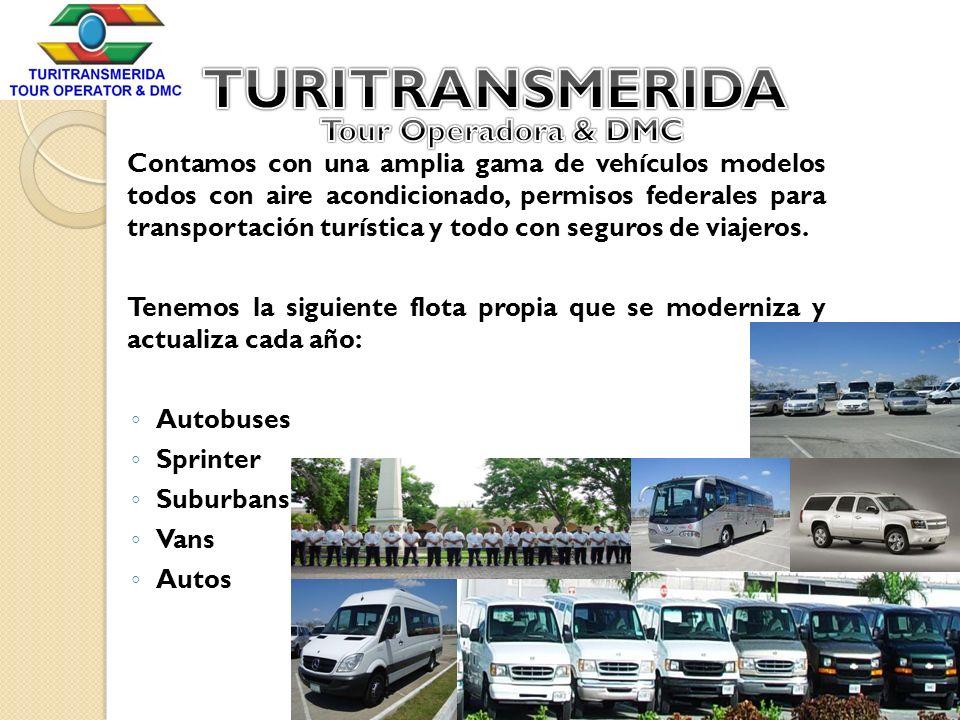Contamos con una amplia gama de vehículos modelos todos con aire acondicionado, permisos federales para transportación turística y todo con seguros de