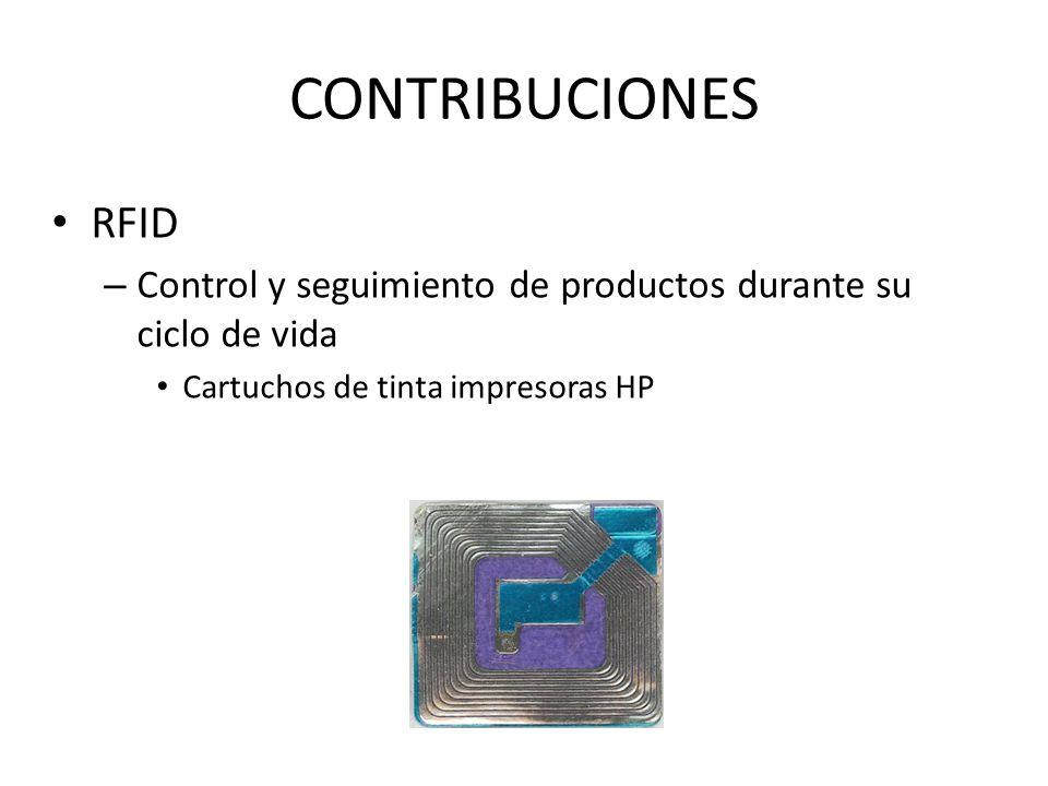 CONTRIBUCIONES RFID – Control y seguimiento de productos durante su ciclo de vida Cartuchos de tinta impresoras HP