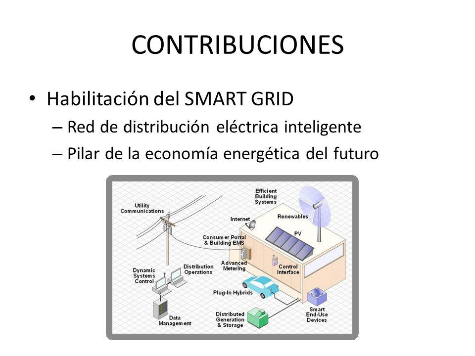 CONTRIBUCIONES Habilitación del SMART GRID – Red de distribución eléctrica inteligente – Pilar de la economía energética del futuro