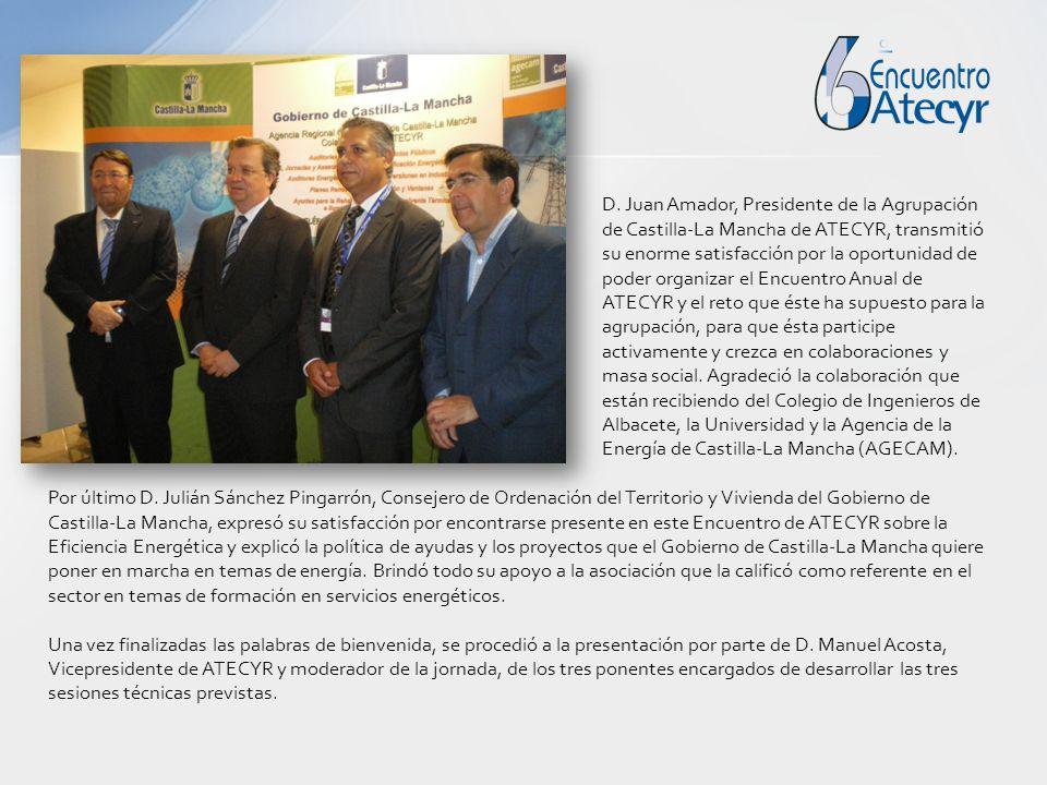D. Juan Amador, Presidente de la Agrupación de Castilla-La Mancha de ATECYR, transmitió su enorme satisfacción por la oportunidad de poder organizar e