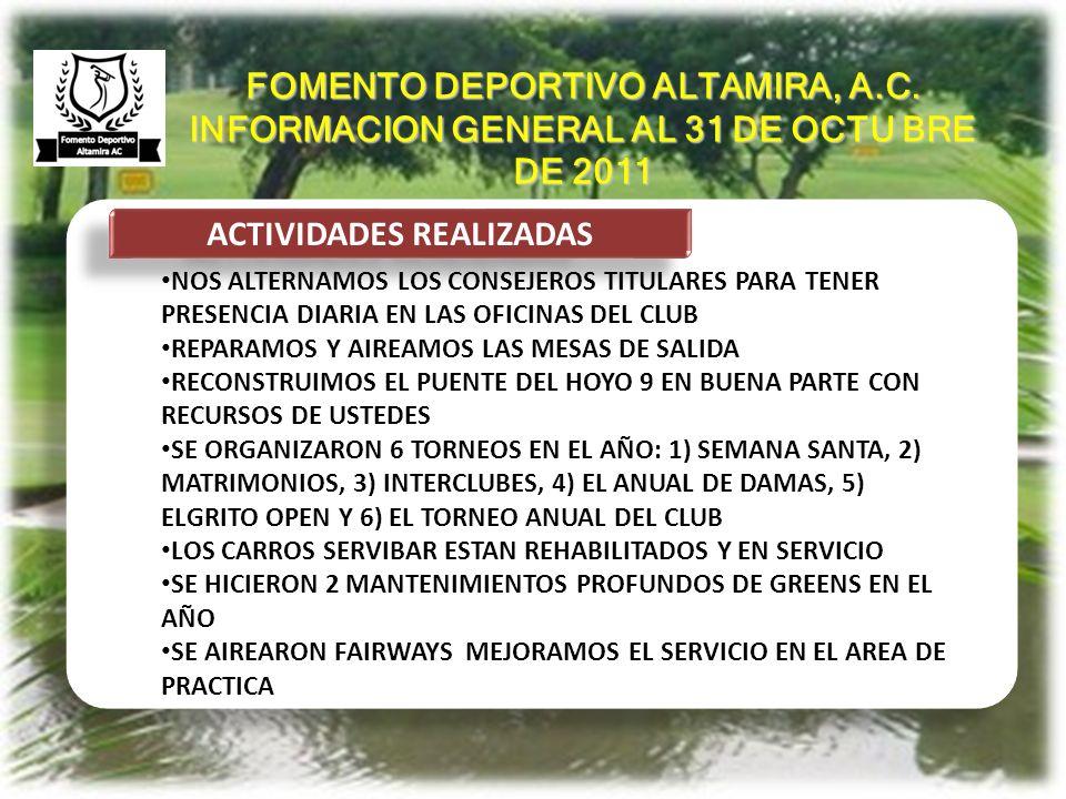 ANTECEDENTES ACTIVIDADES REALIZADAS NOS ALTERNAMOS LOS CONSEJEROS TITULARES PARA TENER PRESENCIA DIARIA EN LAS OFICINAS DEL CLUB REPARAMOS Y AIREAMOS