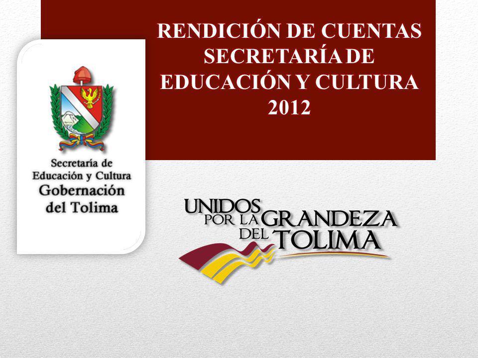 Secretaría de Educación y Cultura Gobernación del Tolima Secretaría de Educación y Cultura Gobernación del Tolima EJECUCIÓN DE RECURSOS