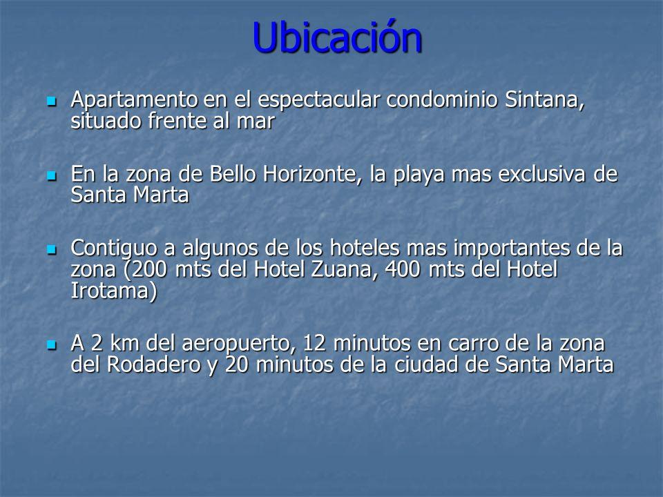 Ubicación Apartamento en el espectacular condominio Sintana, situado frente al mar Apartamento en el espectacular condominio Sintana, situado frente a