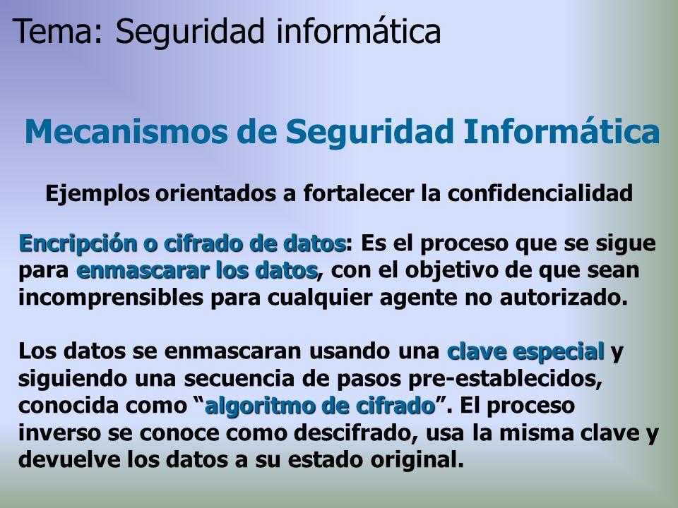 Encripción o cifrado de datos enmascarar los datos Encripción o cifrado de datos: Es el proceso que se sigue para enmascarar los datos, con el objetiv