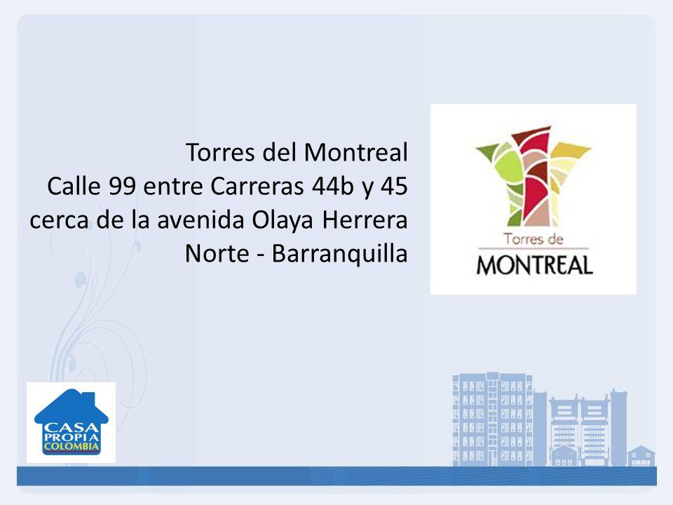 Torres del Montreal Calle 99 entre Carreras 44b y 45 cerca de la avenida Olaya Herrera Norte - Barranquilla