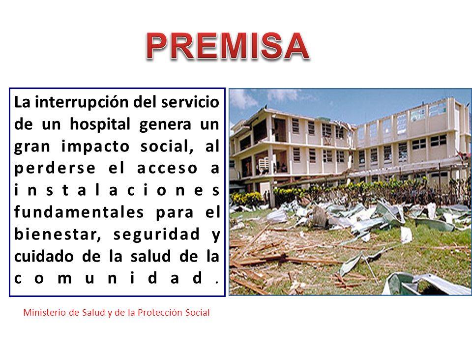 La interrupción del servicio de un hospital genera un gran impacto social, al perderse el acceso a instalaciones fundamentales para el bienestar, segu